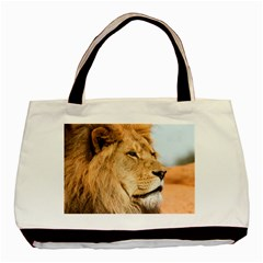 Big Male Lion Looking Right Basic Tote Bag by Ucco