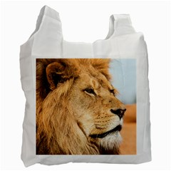 Big Male Lion Looking Right Recycle Bag (two Side)