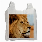 Big male lion looking right Recycle Bag (Two Side)  Front