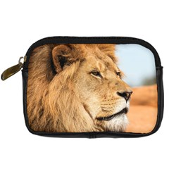 Big Male Lion Looking Right Digital Camera Cases by Ucco