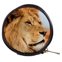 Big Male Lion Looking Right Mini Makeup Bags by Ucco