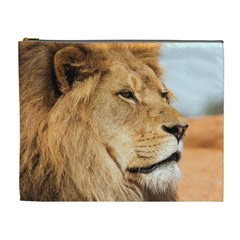 Big Male Lion Looking Right Cosmetic Bag (xl) by Ucco