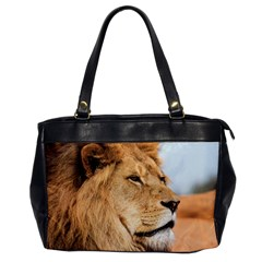 Big Male Lion Looking Right Office Handbags
