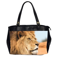 Big Male Lion Looking Right Office Handbags (2 Sides)  by Ucco