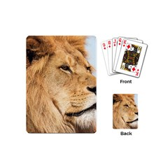 Big Male Lion Looking Right Playing Cards (mini)