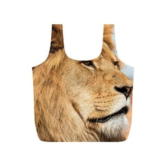 Big Male Lion Looking Right Full Print Recycle Bags (s)