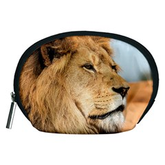 Big Male Lion Looking Right Accessory Pouches (medium)  by Ucco