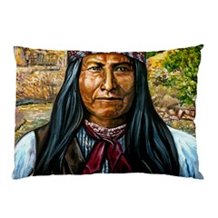 Apache Tribe Warrior Chiricahua Apache Tribe Pillow Case (two Sides) by allthingseveryone