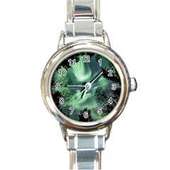 Northern Lights In The Forest Round Italian Charm Watch by Ucco