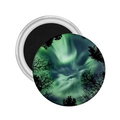 Northern Lights In The Forest 2 25  Magnets by Ucco