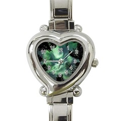 Northern Lights In The Forest Heart Italian Charm Watch by Ucco