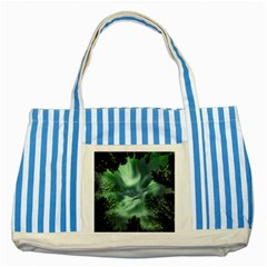 Northern Lights In The Forest Striped Blue Tote Bag by Ucco