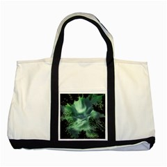 Northern Lights In The Forest Two Tone Tote Bag by Ucco