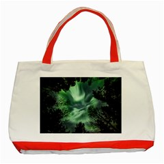 Northern Lights In The Forest Classic Tote Bag (red) by Ucco