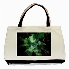 Northern Lights In The Forest Basic Tote Bag (two Sides) by Ucco