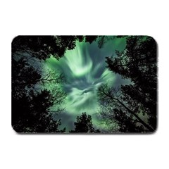 Northern Lights In The Forest Plate Mats by Ucco