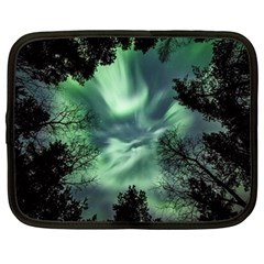 Northern Lights In The Forest Netbook Case (large) by Ucco