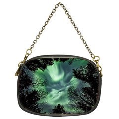 Northern Lights In The Forest Chain Purses (one Side)  by Ucco