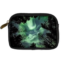 Northern Lights In The Forest Digital Camera Cases by Ucco