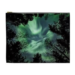 Northern Lights In The Forest Cosmetic Bag (xl)