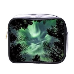 Northern Lights In The Forest Mini Toiletries Bags by Ucco