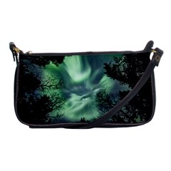 Northern Lights In The Forest Shoulder Clutch Bags by Ucco