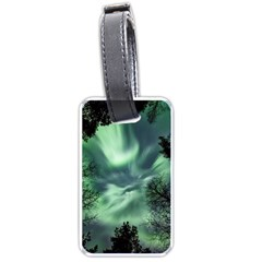 Northern Lights In The Forest Luggage Tags (one Side)