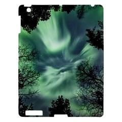 Northern Lights In The Forest Apple Ipad 3/4 Hardshell Case by Ucco