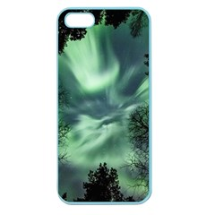 Northern Lights In The Forest Apple Seamless Iphone 5 Case (color) by Ucco