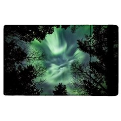 Northern Lights In The Forest Apple Ipad 3/4 Flip Case by Ucco