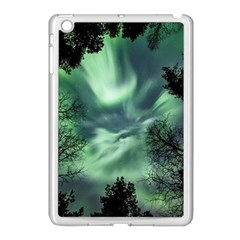 Northern Lights In The Forest Apple Ipad Mini Case (white) by Ucco