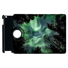 Northern Lights In The Forest Apple Ipad 3/4 Flip 360 Case by Ucco