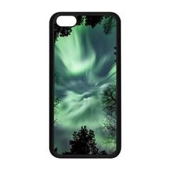 Northern Lights In The Forest Apple Iphone 5c Seamless Case (black) by Ucco