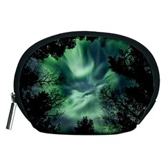 Northern Lights In The Forest Accessory Pouches (medium)  by Ucco