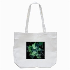 Northern Lights In The Forest Tote Bag (white) by Ucco