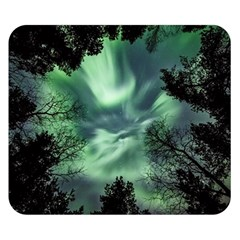 Northern Lights In The Forest Double Sided Flano Blanket (small)  by Ucco