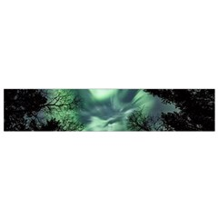 Northern Lights In The Forest Small Flano Scarf