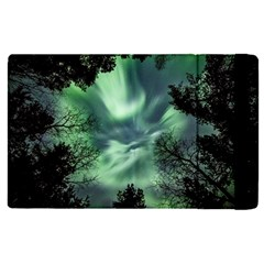 Northern Lights In The Forest Apple Ipad Pro 9 7   Flip Case by Ucco