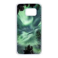 Northern Lights In The Forest Samsung Galaxy S7 White Seamless Case