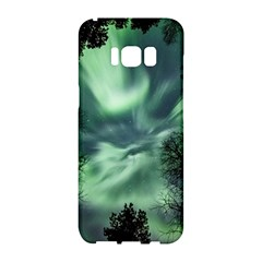 Northern Lights In The Forest Samsung Galaxy S8 Hardshell Case
