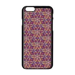Flower Kaleidoscope 2 01 Apple Iphone 6/6s Black Enamel Case by Cveti