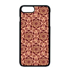 Flower Star Pattern  Apple Iphone 8 Plus Seamless Case (black)