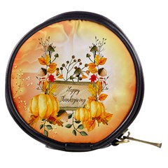Happy Thanksgiving With Pumpkin Mini Makeup Bags by FantasyWorld7