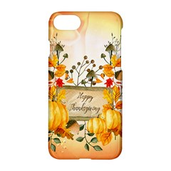 Happy Thanksgiving With Pumpkin Apple Iphone 7 Hardshell Case by FantasyWorld7