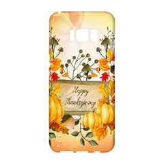 Happy Thanksgiving With Pumpkin Samsung Galaxy S8 Hardshell Case  by FantasyWorld7