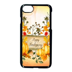 Happy Thanksgiving With Pumpkin Apple Iphone 8 Seamless Case (black) by FantasyWorld7