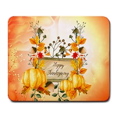 Happy Thanksgiving With Pumpkin Large Mousepads by FantasyWorld7