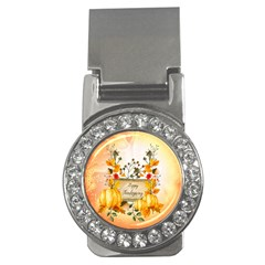 Happy Thanksgiving With Pumpkin Money Clips (cz)  by FantasyWorld7