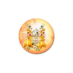 Happy Thanksgiving With Pumpkin Golf Ball Marker (10 Pack) by FantasyWorld7