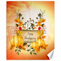 Happy Thanksgiving With Pumpkin Canvas 16  X 20